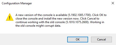 SCCM-console-upgrade