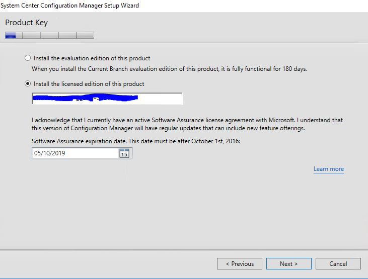SCCM product Key