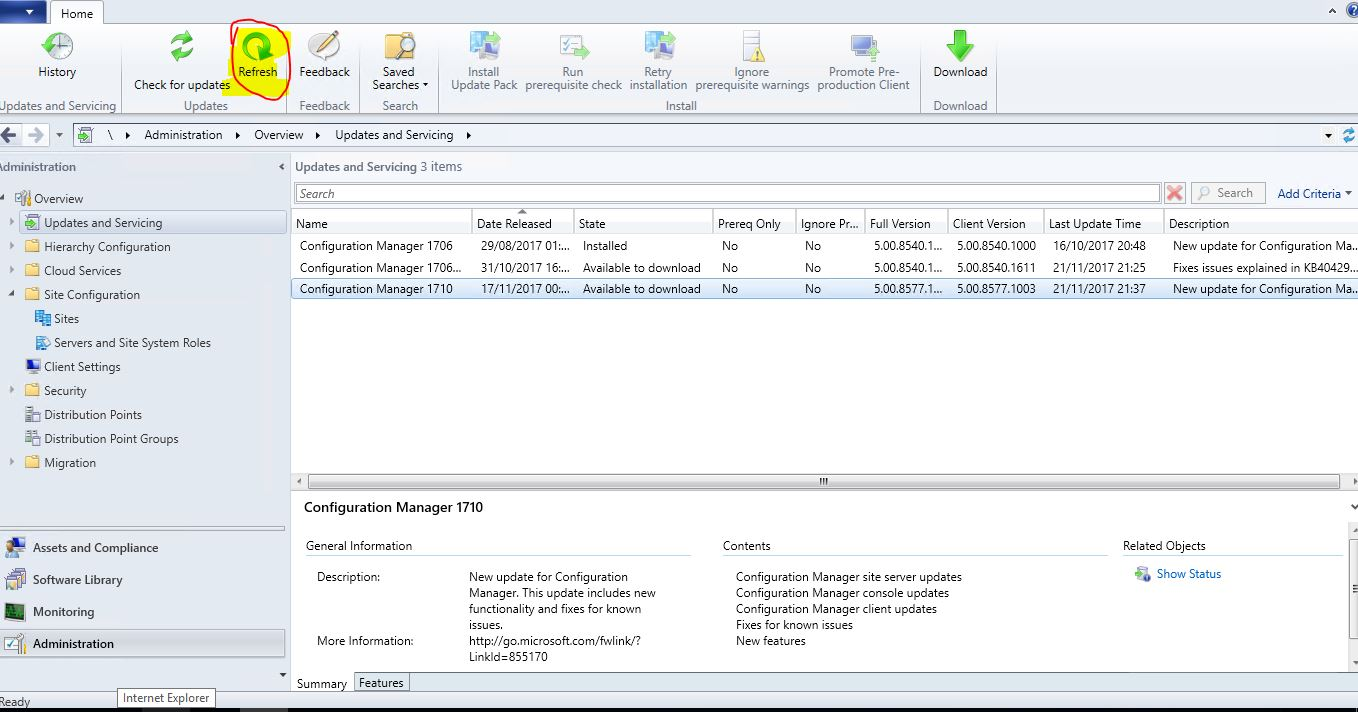 SCCM_Upgrade_1710