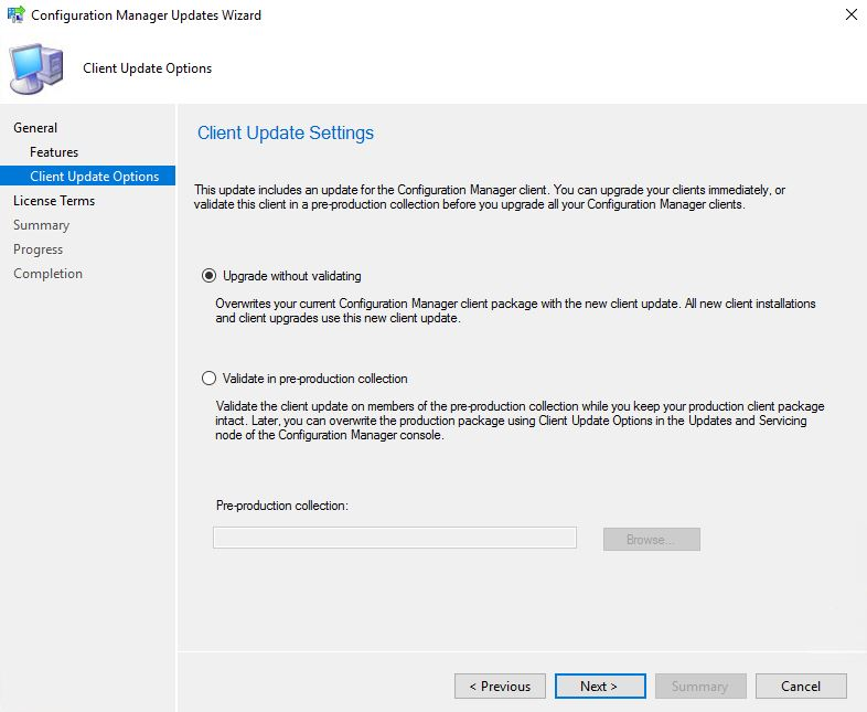 SCCM_Upgrade_1710_Install_Update_Client_update_option