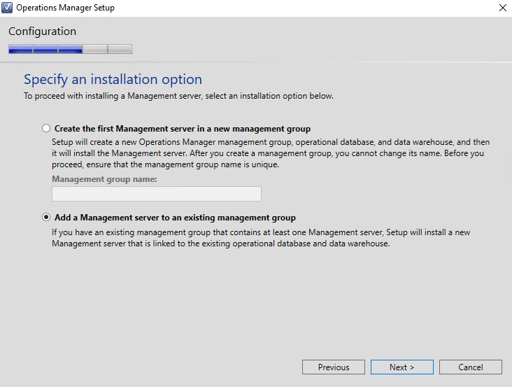 SCOM_MS_existing_management_group