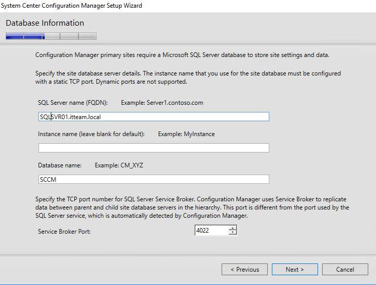 Install SCCM 1702 step by step