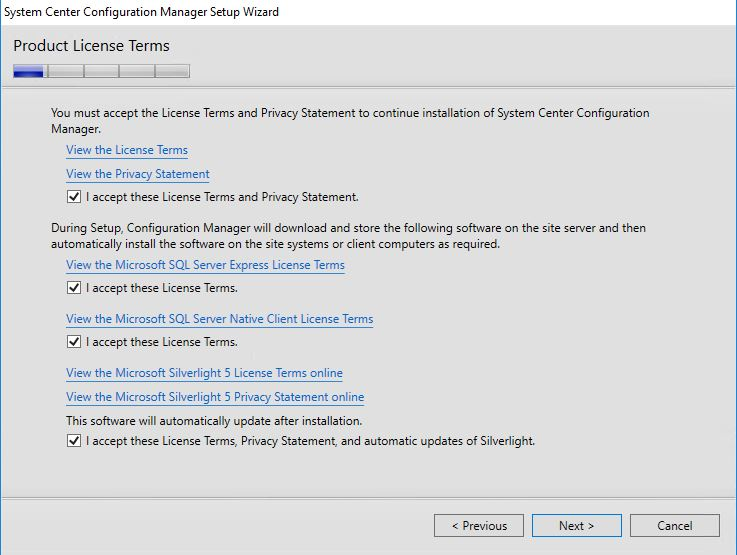 Install SCCM 1702 step by step