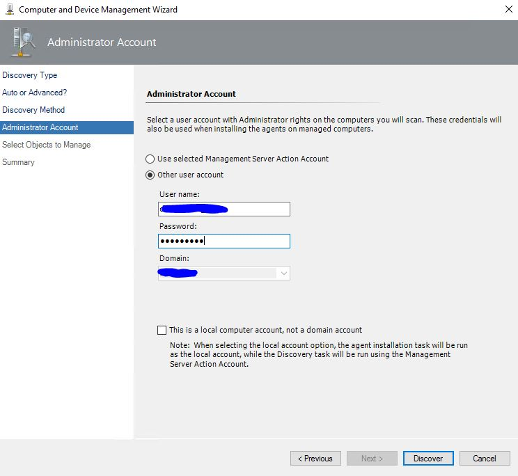 SCOM_Discovery_account_install_agent
